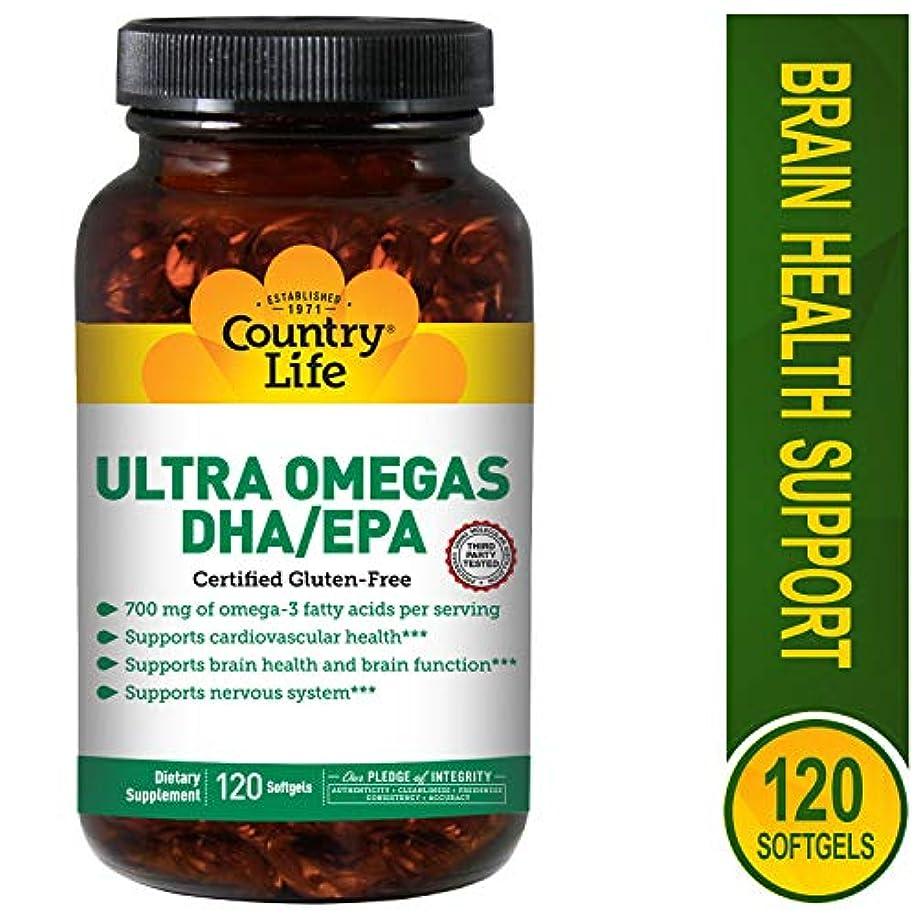 ミシン暴行サスティーンCountry Life - 超Omega DHA/EPA 500 mg/200 mg - 1ソフトジェル