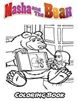Masha and the Bear Coloring Book: Coloring Book for Kids and Adults, Activity Book with Fun, Easy, and Relaxing Coloring Pages