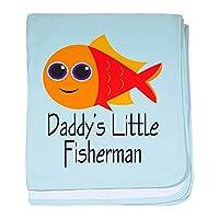 CafePress–Daddy 's Little Fisherman–スーパーソフトベビー毛布、新生児おくるみ ブルー 061653089525CD2