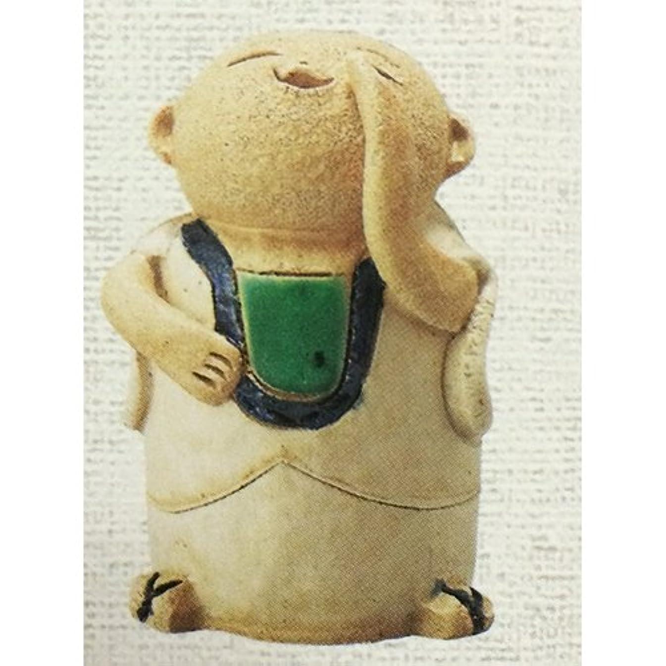 分泌するボイラーチキンお地蔵さん 呼び掛け地蔵 香炉(小) [R6xH10cm] HANDMADE プレゼント ギフト 和食器 かわいい インテリア