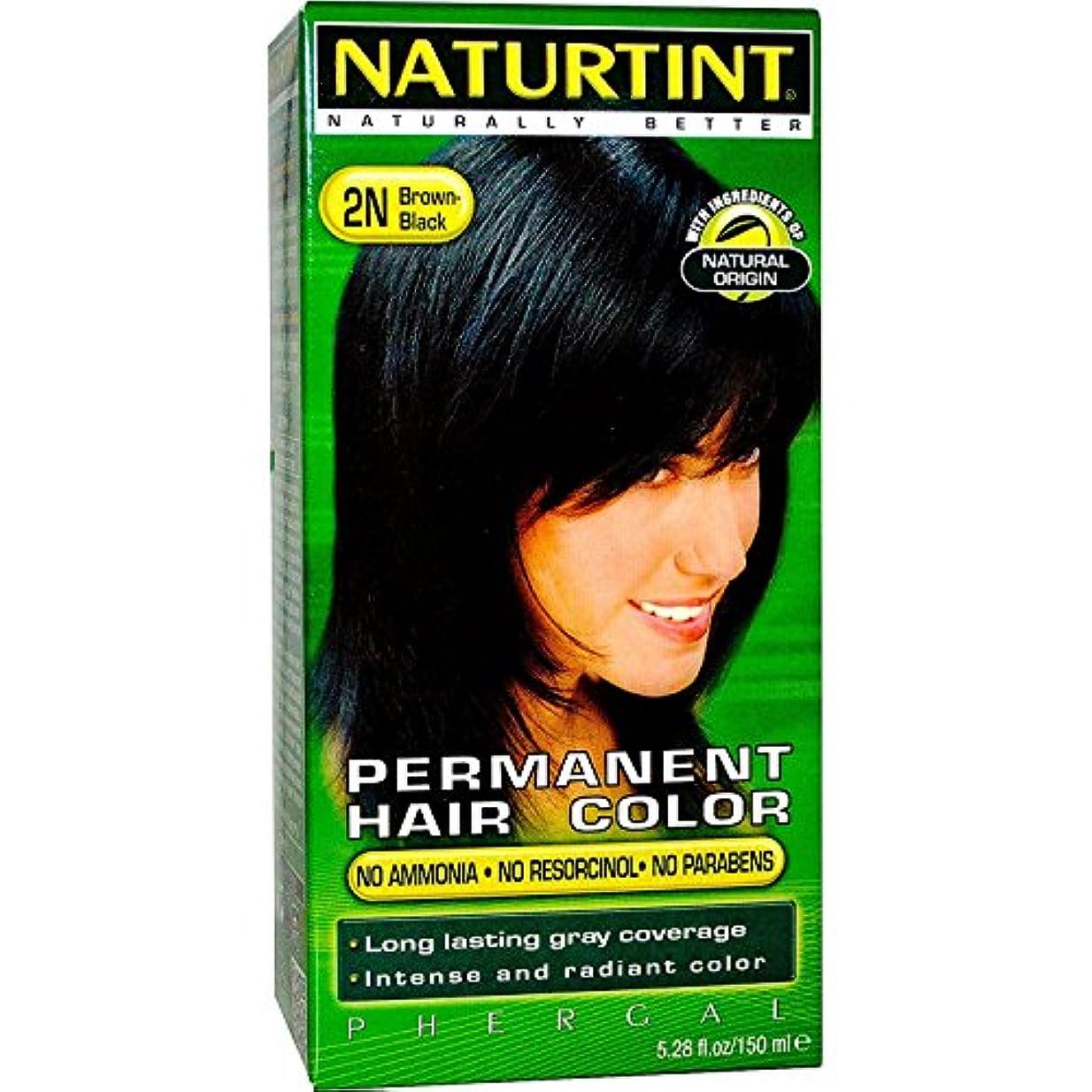 率直な愚か主張Naturtint Hair Color 2N Brown Black by Naturtint