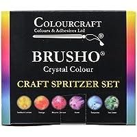 Brusho by Colourcraft Brusho Crystal Set 6 Color Craft Spritzer Colour