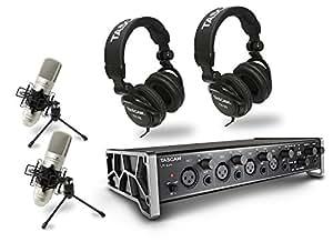 TASCAM レコーディングパッケージ  オーディオインターフェース/ステレオヘッドホン2/コンデンサーマイク2 TRACKPACK 4x4 US-4x4TP-SC