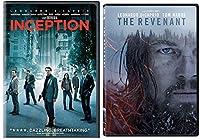 Inception & The Revenant DVD 2 Pack Leonardo DiCaprio Movie Double Feature Set