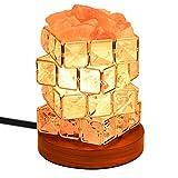 Homepro ヒマラヤ岩塩ランプ ルービックキューブ型 癒しの灯り 空気浄化 インテリア用