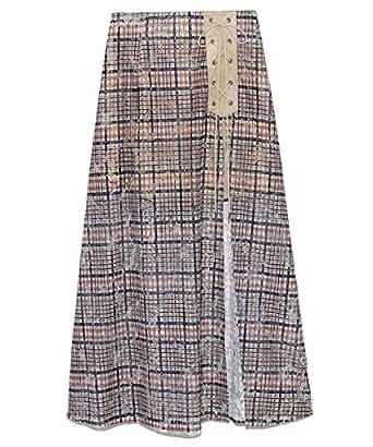 [リリーブラウン] チェック柄レーススカートパンツ LWFP194043 レディース BEG 日本 F (FREE サイズ)