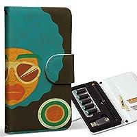 スマコレ ploom TECH プルームテック 専用 レザーケース 手帳型 タバコ ケース カバー 合皮 ケース カバー 収納 プルームケース デザイン 革 ユニーク アフロ 人物 イラスト 007372