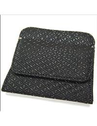 印傳屋 印伝 メンズ (男性用) 本革 小銭入れ 1208 ひょうたん (黒×黒)  日本製 和風 和柄 通販 ギフトに。