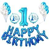 誕生日 飾り付け バルーン 女の子 男の子バースデー 可愛い 飾りセット 風船 華やか かざりつけ数字 1歳 お祝い 赤ちゃん ガーランド 子供26枚セット