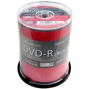磁気研究所 Maximum DVD-R CPRM対応 デジタル録画用 16倍速 4.7GB ワイドエリアホワイト プリンタブル スピンドルケース100枚 MXDR12JCP100