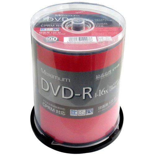 MAXIMUM 録画用DVD-R MXDR12JCP100