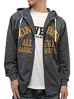 (コンバース) CONVERSE 大きいサイズ パーカー メンズ 長袖 フルジップ ロゴ ストリート 半袖 Tシャツ セット アンサンブル 2color