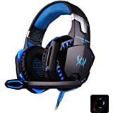 InLife G2000 Stereo Gaming Headset Volume Control Over Ear Headphones with Microphone Led for PC (BLUE)