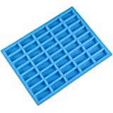 V-fox 40 Cavities Rectangle Caramel Candy Silicone Molds for Chocolate Truffles, Ganache, Jelly, Candy and Praline, Ice Cube Tray, Random Color