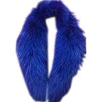 真アライグマ毛皮の襟マフラー生きgegefur女子6色