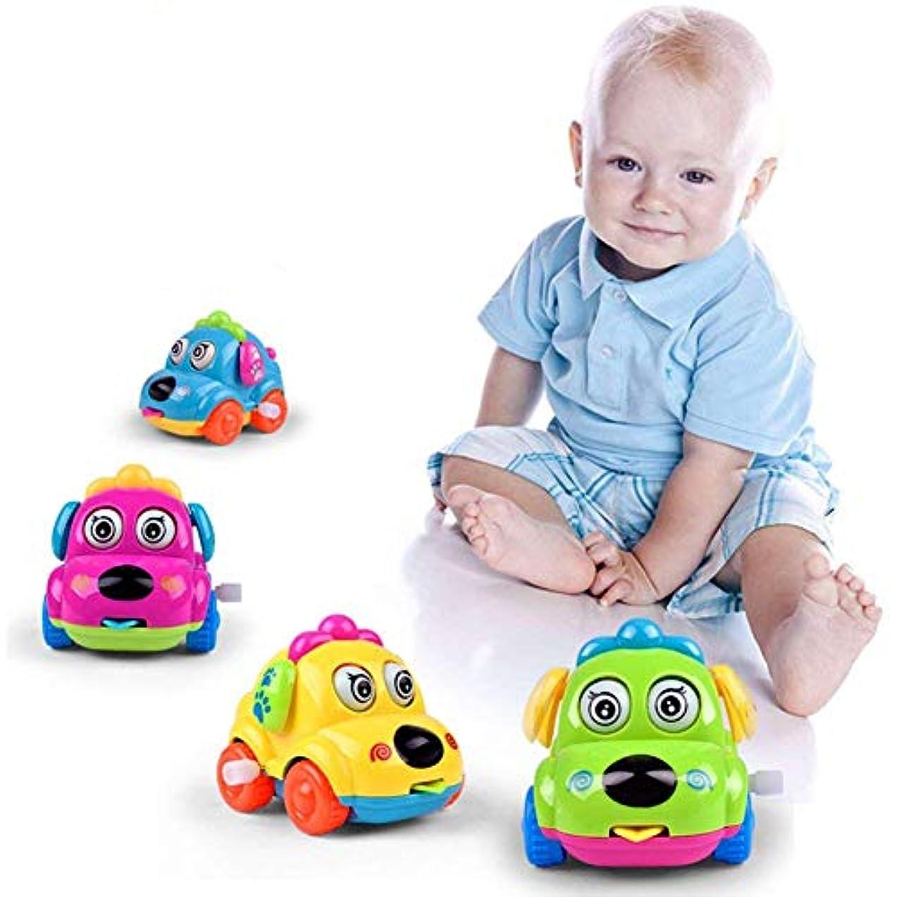 女性じゃないアフリカ人RETYLY 1個 子供幼児のおもちゃ スプリングの時計 カー車のおもちゃ 少年少女、ランダムな色