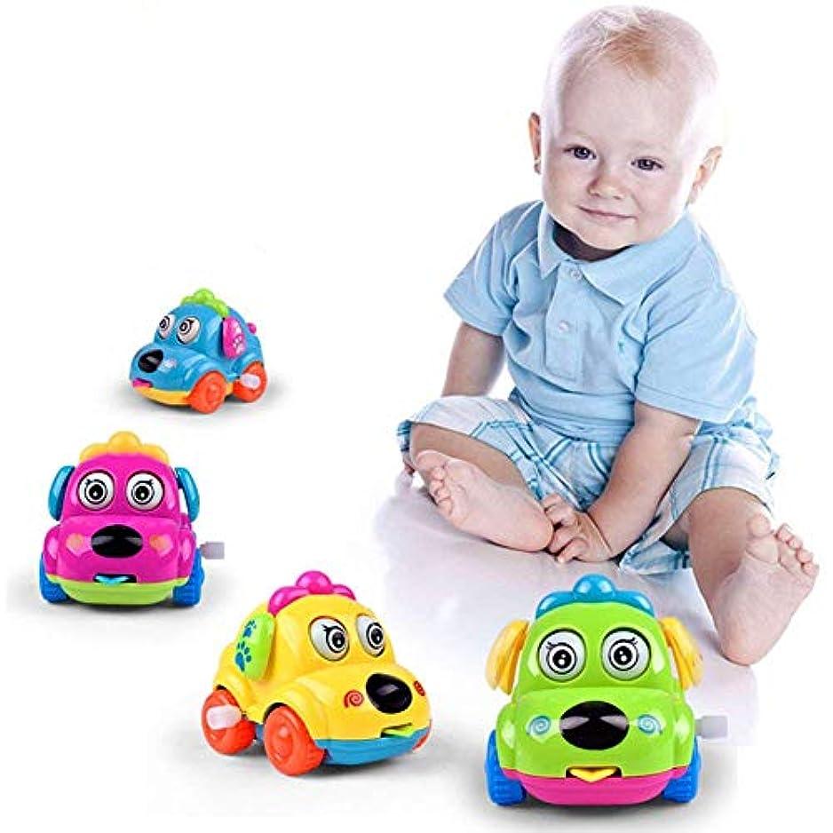 調べる迷路うまれたRETYLY 1個 子供幼児のおもちゃ スプリングの時計 カー車のおもちゃ 少年少女、ランダムな色