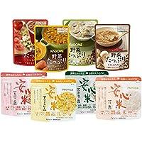 カゴメ&アルファー食品 安心米&野菜たっぷりスープ 保存食バラエティセット