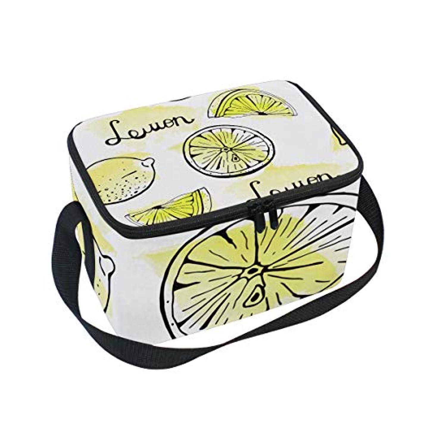 神経衰弱眼拘束クーラーバッグ クーラーボックス ソフトクーラ 冷蔵ボックス キャンプ用品  レモン柄 保冷保温 大容量 肩掛け お花見 アウトドア
