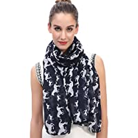 Lina & Lily Horses Print Women's Large Scarf Lightweight
