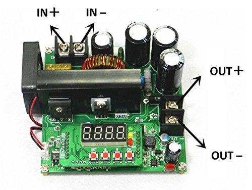 ANBE 900W 昇圧 出力 可変電圧ブースター DC-DC ステップアップ コンバータ (900W- Output 10-120V Digital Control)