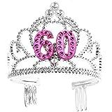 Forum Novelties Happy Birthday 60th Silver Pink Tiara by Forum Novelties [並行輸入品]