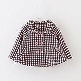 MINEKA 女の子 冬 コート アウター ダッフルコート ピンク/白/黒80~110CM (2T, G.DY.010293/ピンク)