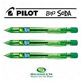 パイロットSoda b2p格納式ボールペンペン–レモン&ライムグリーン–[ Pack of 3]