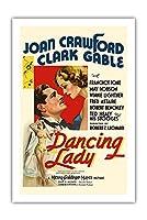 """""""Dancing Lady"""" - Joan Crawford & Clark Gable - ビンテージなフィルム映画のポスター c.1933 - プレミアム290gsmジークレーアートプリント - 61cm x 91cm"""