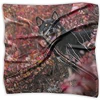 スカーフ レディース 柴犬 犬柄 黒柴 ハンカチ 小さな正方形 レトロプリント 小物 冷房対応 ハンドバッグの装飾 ファッション 通勤 洗える 人気 流行 毎日 レジャー