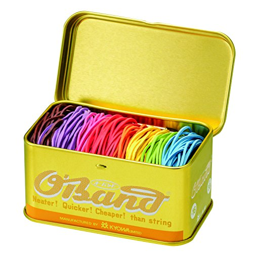 共和 オーバンド ゴールド缶 30g #16 8色混合ミックス GG-040-MX 輪ゴム