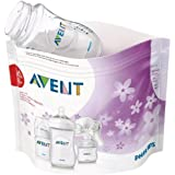 Philips Avent Microwave Steam Steriliser Bags, Easy to use, 5 Bags for 100 Cycles, SCF297/05