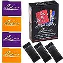 Quiver カードケース分取器&セパレータ(7点セット)ゲームオーガナイザは卓上ゲーム トレーディング フィギュア ダイス カード収納ボックスとの使用に最適 オレンジ&パープル
