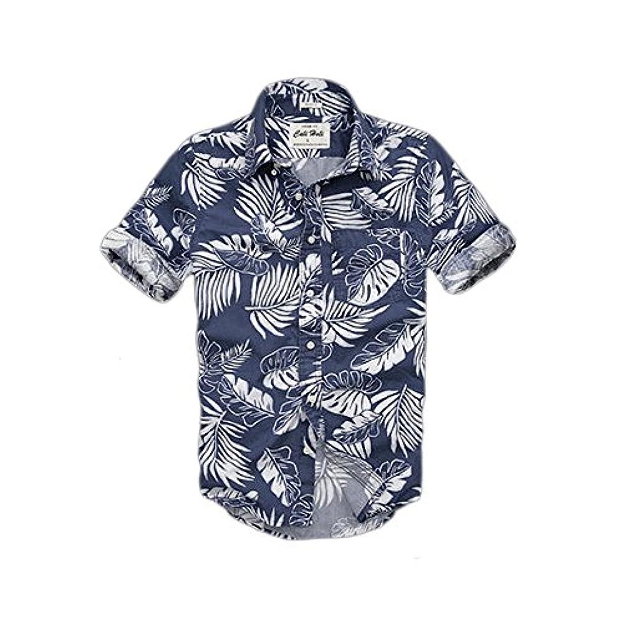 旋律的階層無視する(カリホリ) Cali Holi シャツ メンズ 長袖 カジュアル 大きいサイズ 花柄 アロハシャツ アメカジの王道