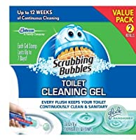 Scrubbing Bubbles Toilet Gel Rain Shower, 1 Dispenser and 12 Gel Stamps by Scrubbing Bubbles