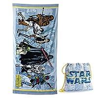 Disney Star Warsグループコットンビーチタオル& Cinchトートバッグセット