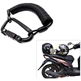 Ting Ao Universal for Motorcycle Helmet Lock Combination Lock with T-Bar Rubber Safe