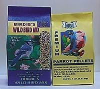 ドールハウスミニチュアBird Food set-wild鳥シード、Parrot Pellets