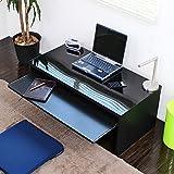 パソコンデスク スライド テーブル 90cm幅 日本製 ローデスク JS107N BK