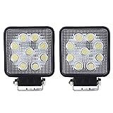 ANNT 27W LED ワークライト 広角タイプ 12V・24V対応 2160lm 自動車 トラック用品 作業灯 角形 【2個セット】【1年間 保証期間 付】