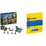 レゴ(LEGO)シティ ジャングル探検移動基地 60160 & クラシック 基礎板(ブルー) 10714