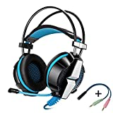 KOTION EACH GS700, Professional 3.5mm PC Stereo Gaming Headset, Bass Headphones, Comfortable Headband with in-line Mic, Integrated Microphone for PS4 PC Computer Laptop Mobile Phones (Blue) by KOTION EACH [並行輸入品]