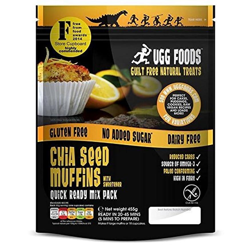 ピグマリオン本質的ではない残り物Uggチアシードマフィンミックス455グラム (Ugg Foods) - Ugg Chia Seed Muffin Mix 455g