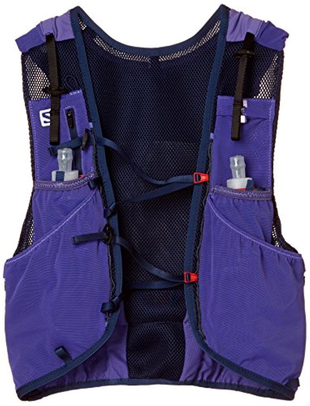 外交問題アクセサリーリーズ[サロモン] ランニングハイドレーションバッグ ADV SKIN 12 SET Purple Opulence/Medieval Blue