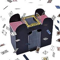 1-6デッキトランプ 自動電気 シャッフル機、シャッフル ポーカー、プロ カジノゲーム、ワンタッチで自動でシャッフル