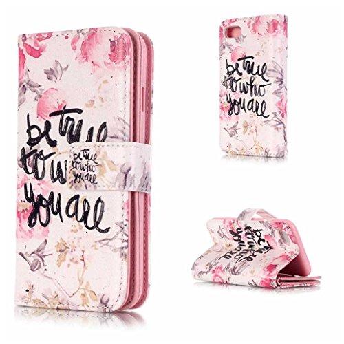 UNEXTATI iPhone 7 Plus ケース 高品質 PUレザー 手帳型ケース 保護カバー カード収納 液晶保護 防塵 Apple iPhone7 Plus 用 Case Cover (P8 ピンク)