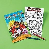 (12 PACK) - Farm Animals Activity Pad With 2pk Crayon (1 Dozen) - Bulk