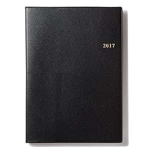 能率 NOLTY 手帳 2017年1月始まり  ウィークリー ベルノA5バーチカル1 黒 6232