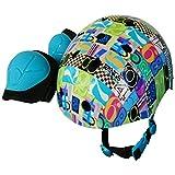 ラングスジャパン(RANGS) ラングスジュニアスポーツヘルメット ナンバー 48~54cm サイズ調整可能 ひじひざパッド付き SG基準合格