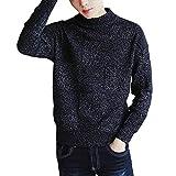 ニット セーター メンズ 長袖 ハイネック タートルネック おしゃれ シンプル あったか 暖かい カジュアル 防寒 日系